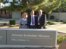 Sister Sweeney, Elder Clark and President Sweeney