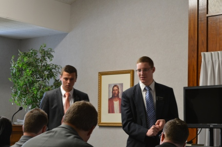 Assistants to the President - Elders Hofman and Burnside Train New Missionaries