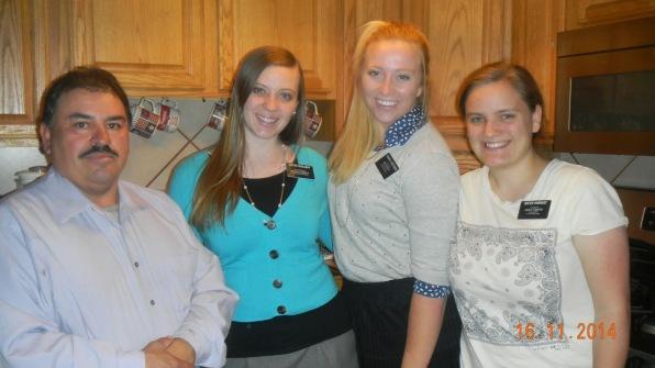 Lalo, Sister Doolhoff, Sister Christensen and SIster Harrast