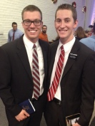 Elders Kirk and Jacobson at Camelback Stake Christmas Concert (they sang!)