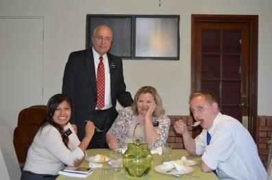 Sister Aguado, Pres & Sister Sweeney, Elder Ashment