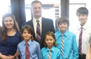 Sister Landry, Eddie and his 4 sons