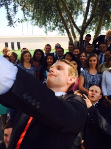Elder Adams takes a BIG Selfie!