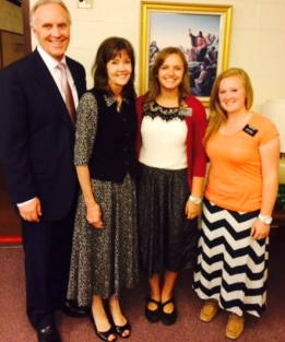 Elder and Sister Corbridge with Sisters Richards and Call