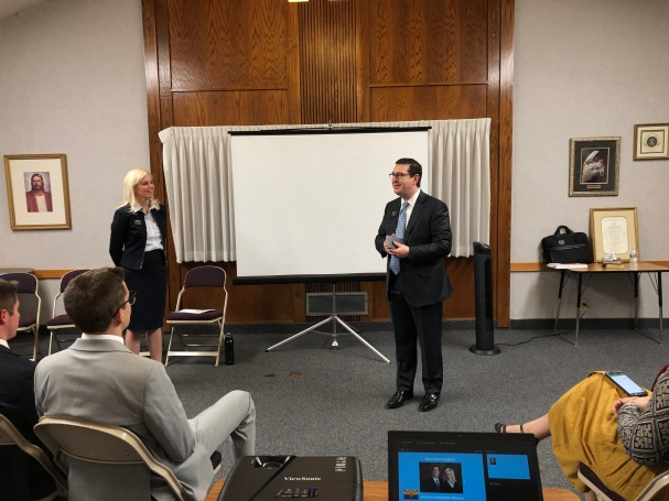 President and SIster Cox introduced themselves to all of the missionaries with a powerpoint that included a little bit about them and their family.